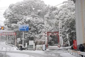 来宮神社 雪 今井