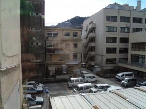 市長室から見る光景