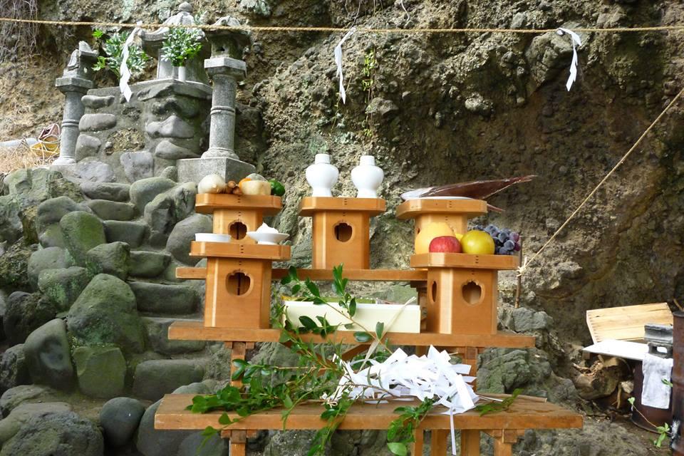竜神祭 供え物 伊豆山神社