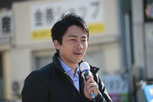 小泉進次郎氏、街頭演説 @ 熱海駅前広場